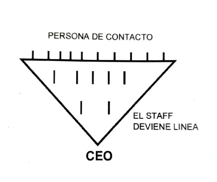 La organización invertida